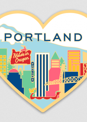 The Found Sticker Portland Skyline Heart