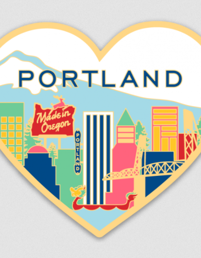 The Found Sticker Portland Skyline Heart
