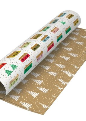 Roger La Borde Gift Wrap Double Sided Little Houses