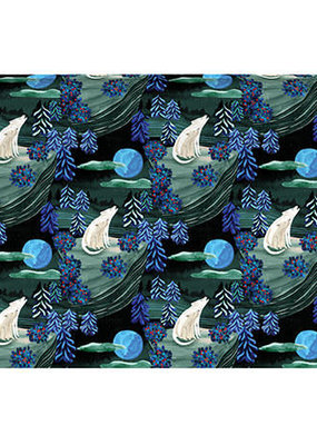 Roger La Borde Gift Wrap Double Sided By the Light of the Moon
