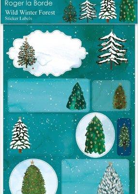 Roger La Borde Sticker Labels Wild Winter Forest