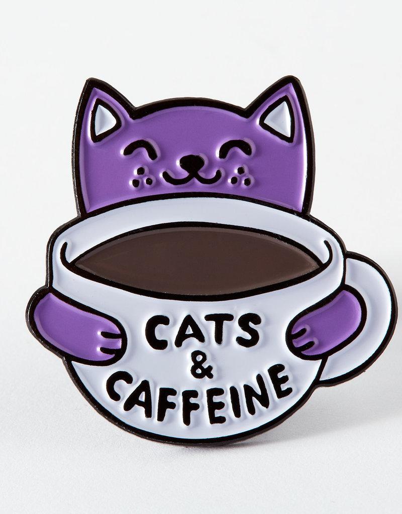 Punky Pins Enamel Pin Cats & Caffeine