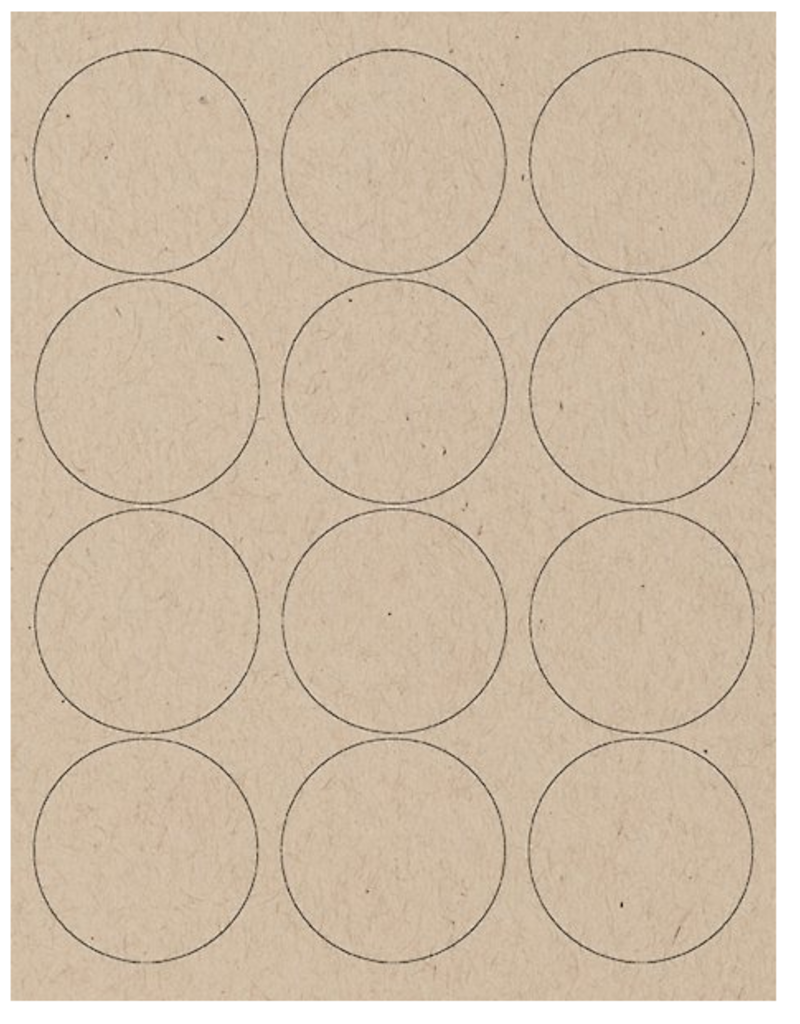"""Waste Not 2.5"""" Circle Labels"""