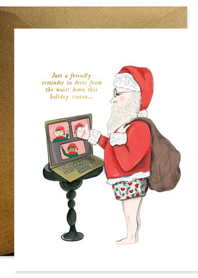 Good Juju Ink Card Santa Zoom