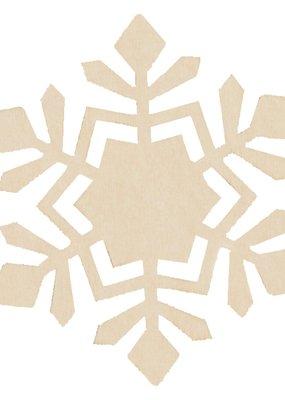 Darice Unfinished Wood Snowflake 4.25 x 5 Inch