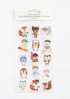Waste Not Stickers Cold Weather Friends