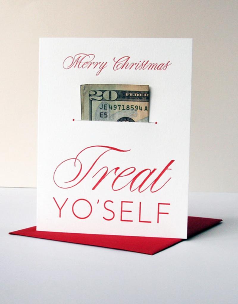 Steel Petal Press Card Treat Yo Self Xmas