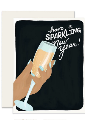 Slightly Stationery Card Sparkling Year
