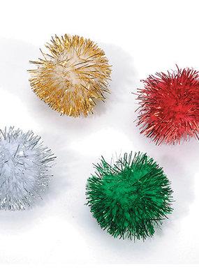Darice Christmas Pom Poms 1 Inch 24 Pack