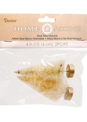 Darice Bottle Brush Tree Natural 1.5 x 4 Inch  2 Pack
