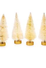 Darice Bottle Brush Tree Natural 1 X 3 Inch 4 Pack