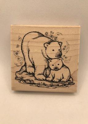 collage Stamp Polar Bear