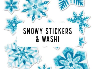 Snowy Stickers & Washi