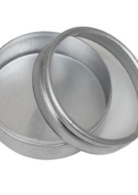 Hawk Importers Aluminum Box Clear Lid Round 1.25""