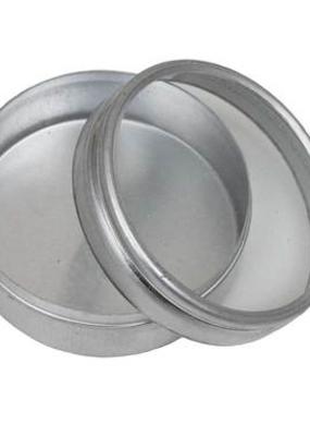 "Hawk Importers Aluminum Box Clear Lid Round 2"""