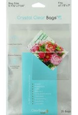 """Clear Bags Clear Bags 5"""" x 7"""" 25 Piece Pack"""