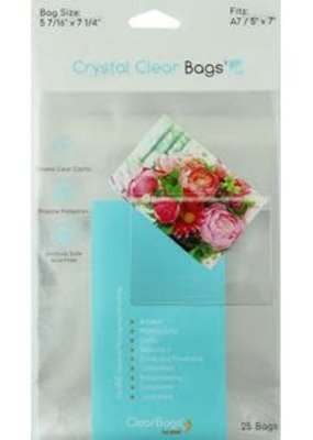 "Clear Bags Clear Bags 5"" x 7"" 25 Piece Pack"