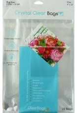 """Clear Bags Clear Bags 9"""" X 12"""" 25 Piece Pack"""