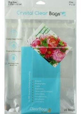"Clear Bags Clear Bags 9"" X 12"" 25 Piece Pack"