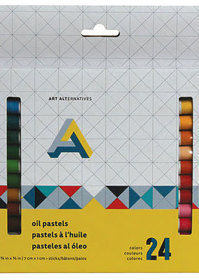 Art Alternatives Oil Pastel 24 Color Set