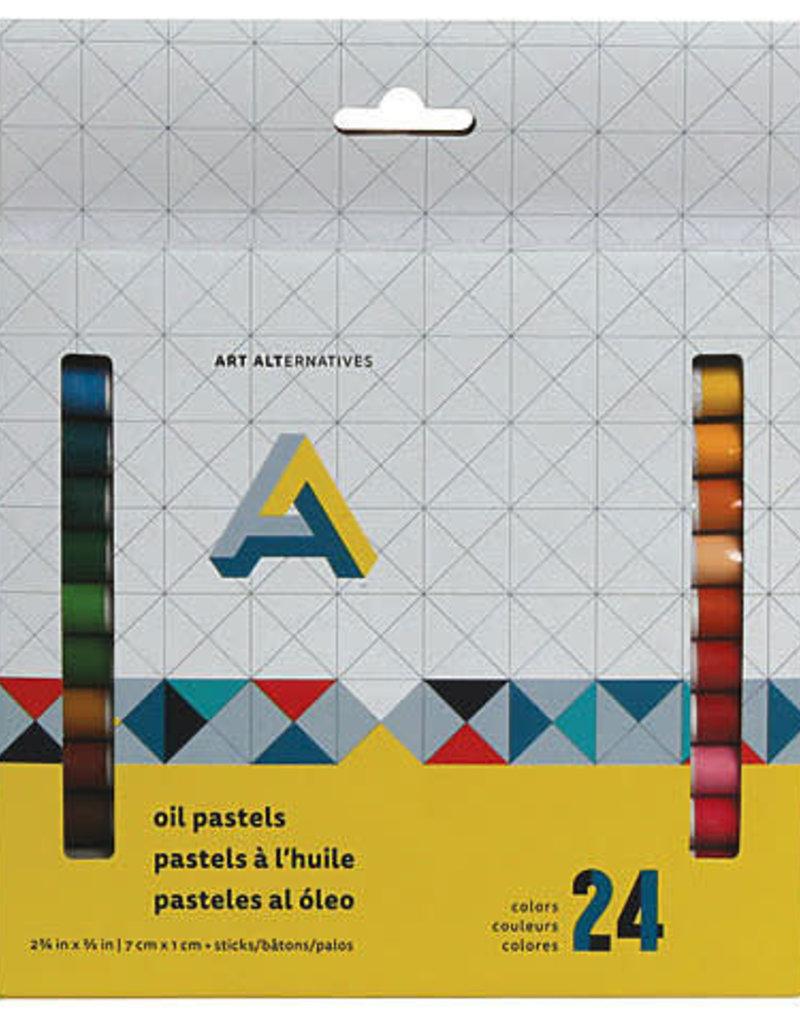 Art Alternatives Oil Pastel 24 Color Set