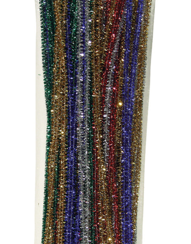 Creativity Street Chenille Stems Sparkly Assorted Colors