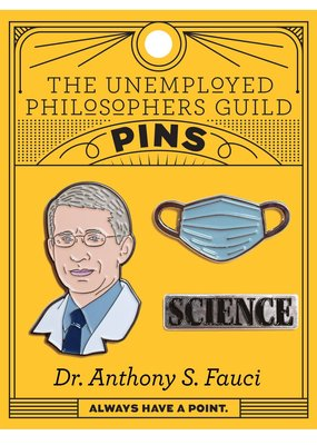 The Unemployed Philosophers Guild Dr. Anthony S. Fauci Enamel Pin Set