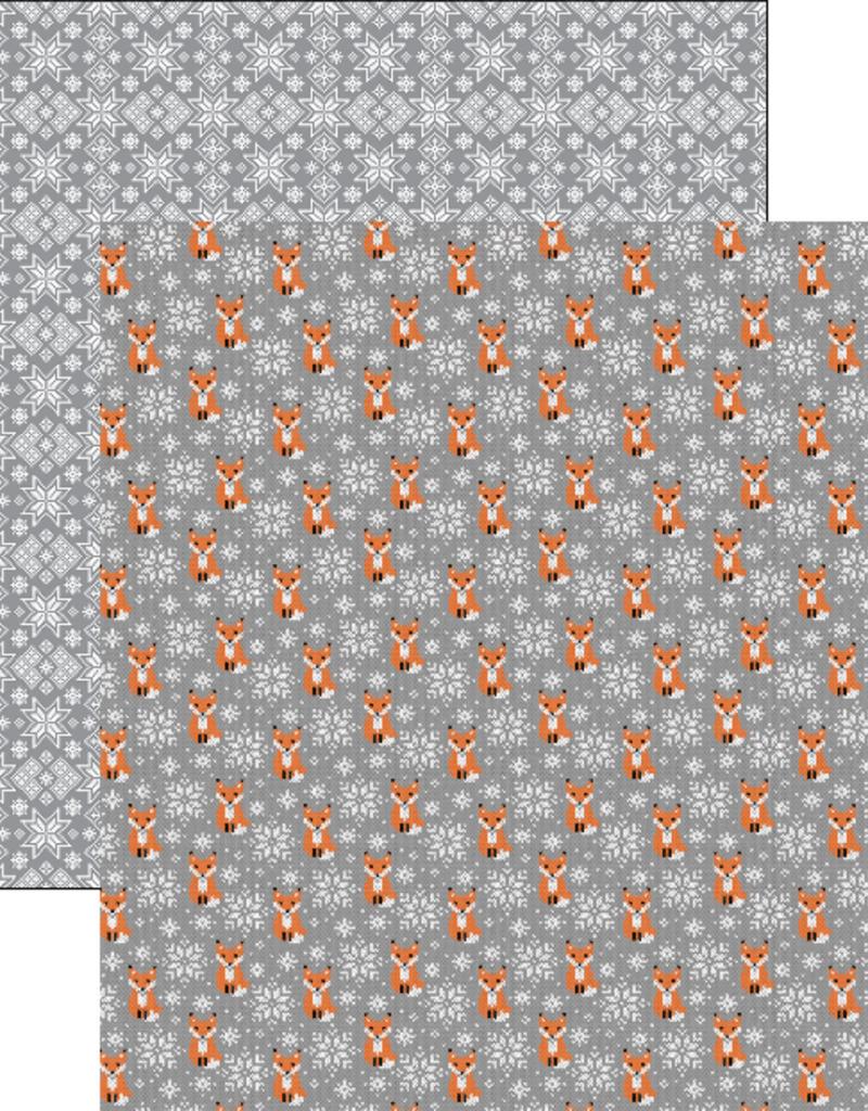 Reminisce 12 x 12 Paper Foxy Sweater