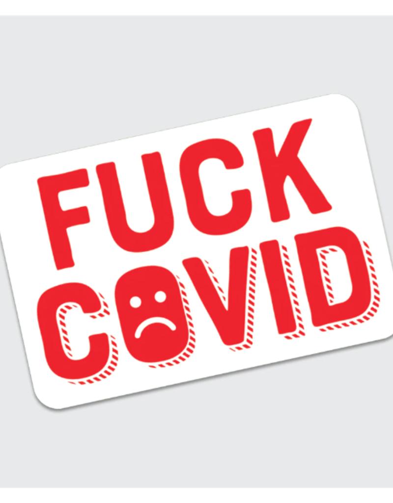 Rock Scissor Paper Sticker Fuck COVID