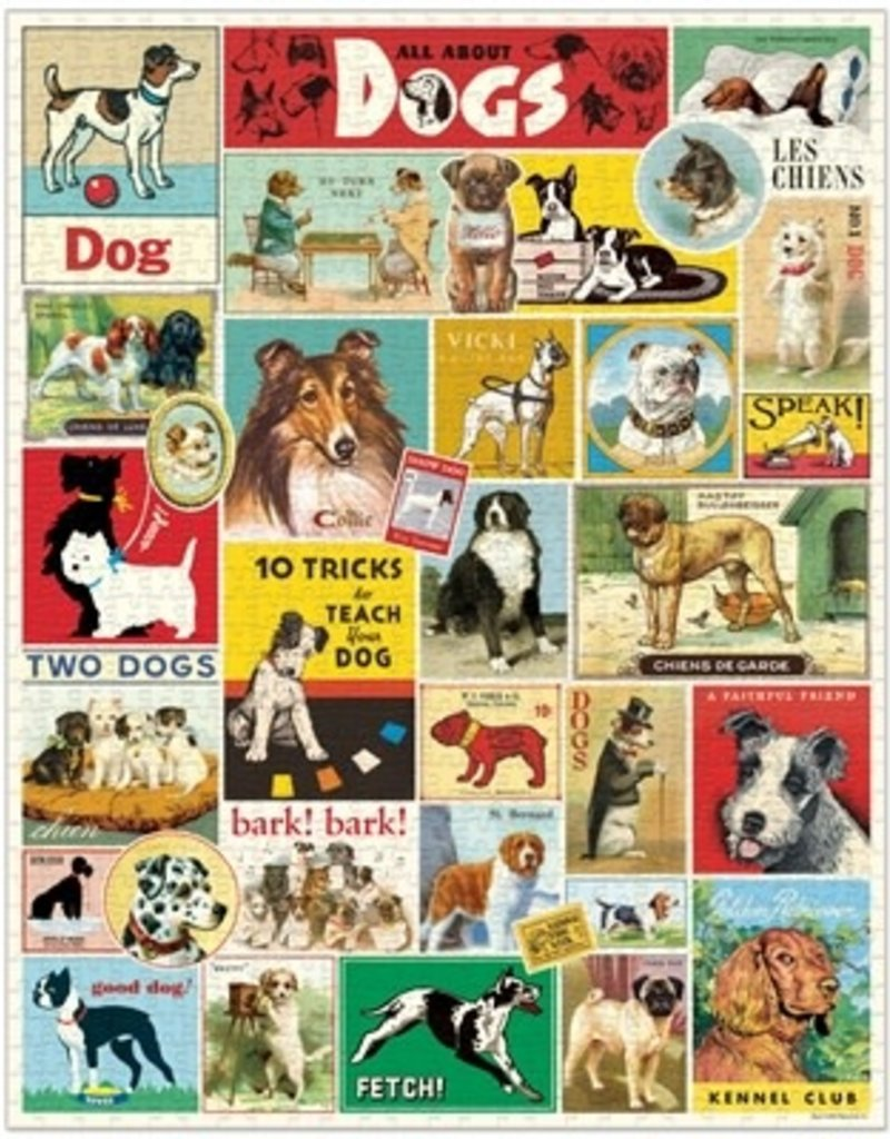 Cavallini 1000 Piece Jigsaw Puzzle Dogs