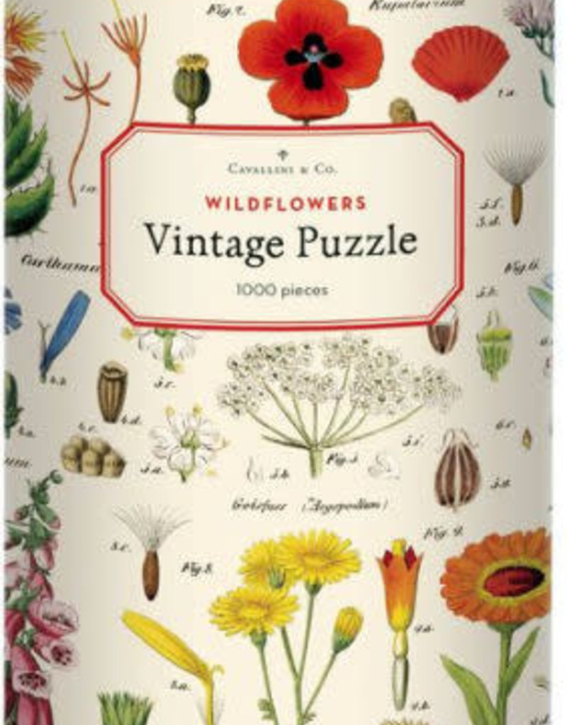 Cavallini 1000 Piece Jigsaw Puzzle Wildflowers