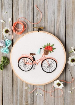Leisure Arts Mini Maker Embroidery Kit Bicycle Ride