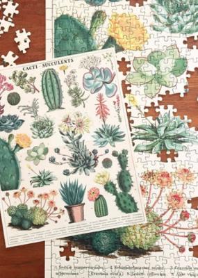 Cavallini 1000 Piece Jigsaw Puzzle Cacti & Succulents