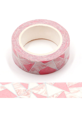 collage Washi Pink Geometric Lines