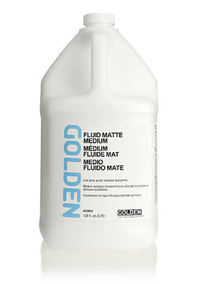 Golden Golden Acrylic Fluid Matte Medium 16 Ounce