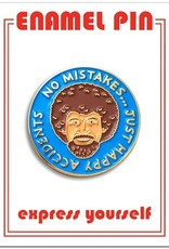 The Found Enamel Pin Bob Ross Happy Accidents Blue
