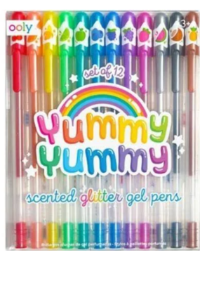 Ooly Yummy Yummy Scented Glitter Gel Pens Set Of 12