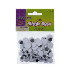 Creativity Street Googly Eyes Assorted Sizes 100 Pack