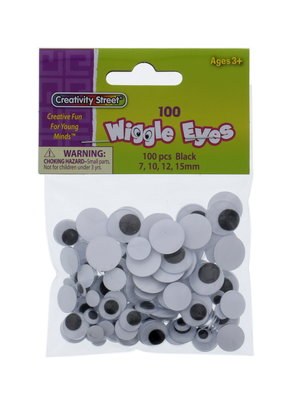Creativity Street Googly Eyes Assorted Sizes 100 Pack