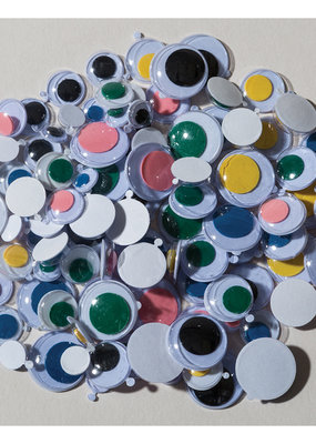 Creativity Street Googly Eyes Peel & Stick Assorted Colors & Sizes 100 Pack