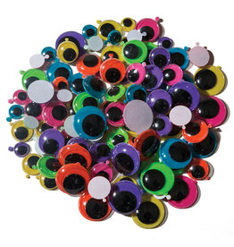 Creativity Street Googly Eyes Peel & Stick Bright Colors Assorted Sizes 100 Pack