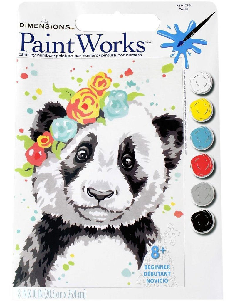 Dimensions Paint by Number Kit Panda