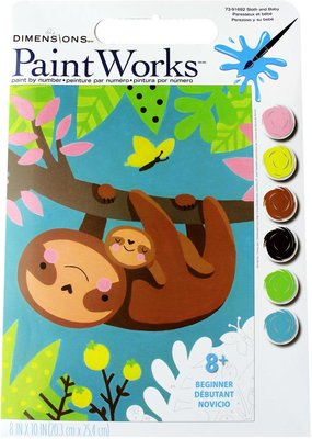 Dimensions Paint by Number Kit Sloth & Baby