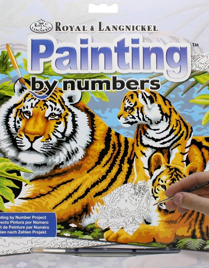 Royal & Langnickel Paint by Numbers Kit Tiger & Cubs