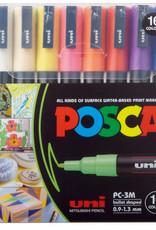 POSCA POSCA Paint Marker 16-Color PC-3M Fine Set