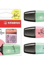 Stabilo Boss Mini Pastel Love Highlighter Set 3 Color
