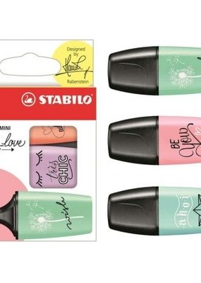 Stabilo Boss Mini Pastel Love Highlighter Set 3 Color