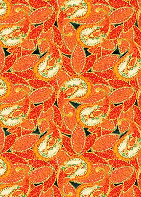 Pomegranate Gift Wrap Paisley Motif