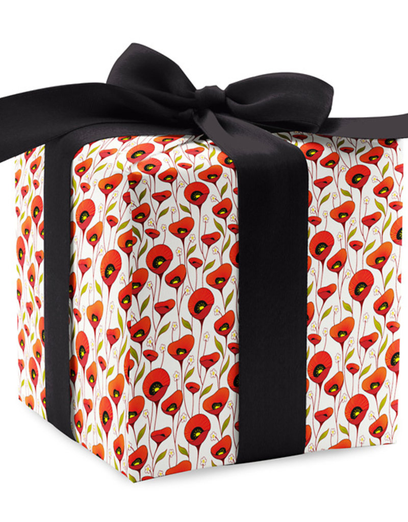 Pomegranate Gift Wrap Poppies Profusion