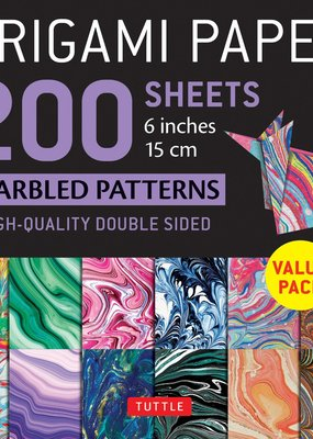 Tuttle Publishing Origami Paper Marbled 200 Sheets